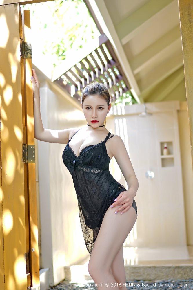 [FEILIN嗲囡囡]NO.022 于姬Una爆乳人体艺术秀