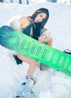 [尤果网] 336 酷炫女孩穆菲菲带你去雪地滑雪真的很热血