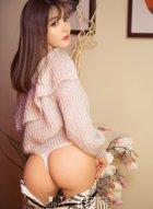 绝色美少女周心情裸色连衣裙秀好身材 镂空的穿法真的是性感爆棚
