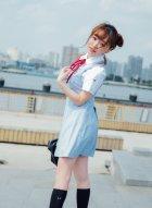 女神柳侑绮穿上校服变身青涩女学生 天真浪漫楚楚可爱打动人心