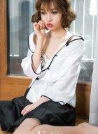 旗袍美人Asako娇美羞涩,犹如上演民国穿越剧。